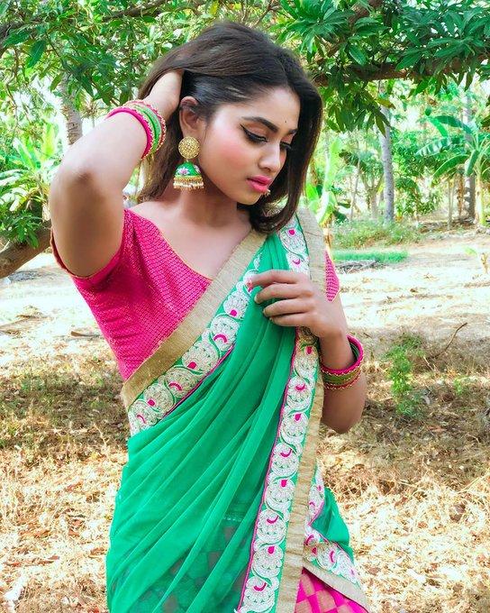 Shivani Narayanan in Saree Photos