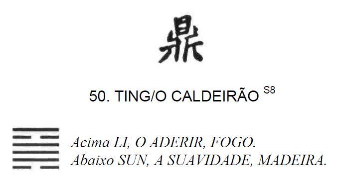 Imagem de 'Ting / O Caldeirão' - hexagrama número 50, de 64 que fazem parte do I Ching, o Livro das Mutações