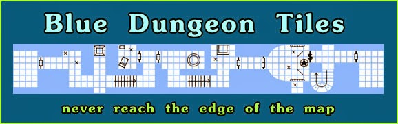 Blue Dungeon Tiles on Kickstarter