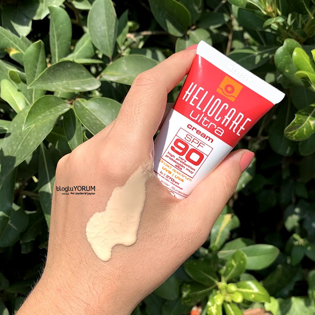 Heliocare Ultra Cream SPF 90 güneş kremi swatch