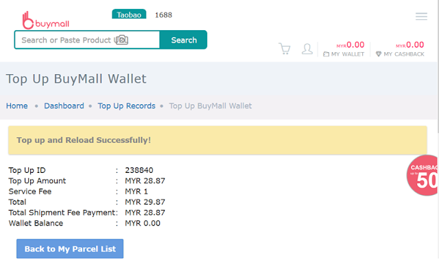 Pengalaman Membeli  di buymall.com.my