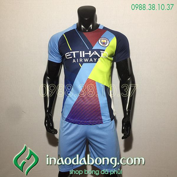 Áo bóng đá câu lạc bộ Man City màu xanh tím 2020