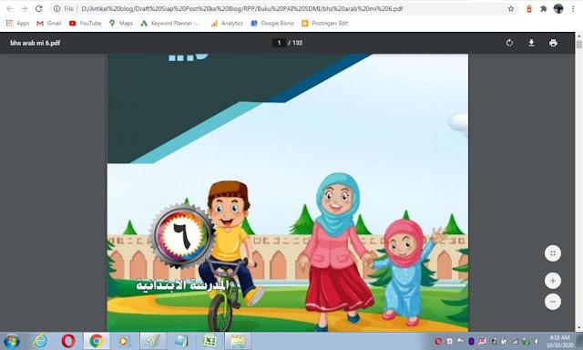 Buku bahasa arab kelas 6 sd/mi sesuai kma 183 tahun 2019