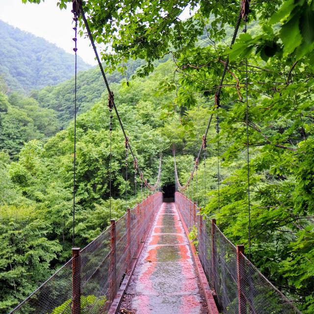西沢渓谷 二俣吊橋