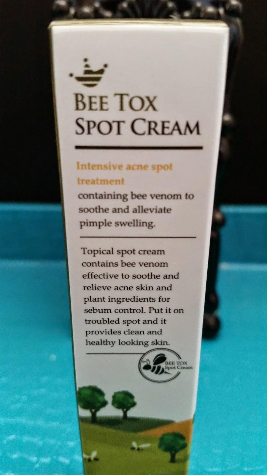 Shara Shara Bee Tox Spot Cream packaging