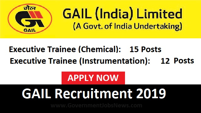 Gail Recruitment 2019 Executive Trainee Online Form