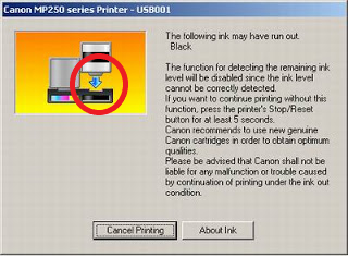 Error E13 Canon MP258/MP287