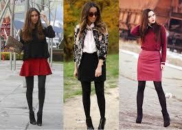 dicas de como usar mini saia com meia de lã - fotos e modelos