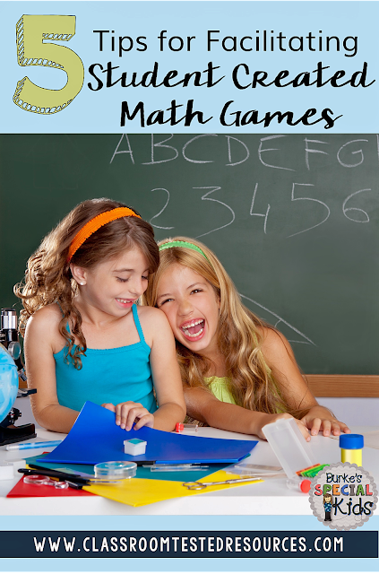 Student Created Math Games End of the Year
