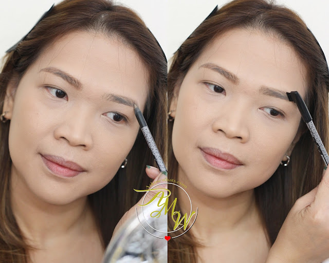 a photo on how to use Golden Rose Cosmetics Dream Eyebrow Pencil 306