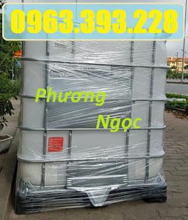 Bồn nhựa 1 khối, tank đựng hóa chất, tank nhựa IBC 1000 Lít, thùng nhựa vuông có 90ba203853f9b1a7e8e8