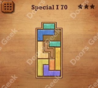 Cheats, Solutions, Walkthrough for Wood Block Puzzle Special I Level 70