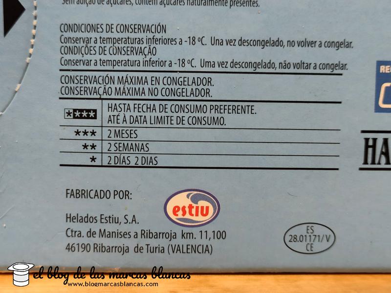 Helados Estiu elabora los Conos mini nata sin azúcar HACENDADO (Mercadona) en El Blog de las Marcas Blancas