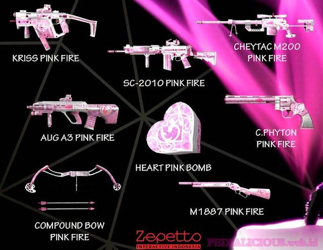 Harga & Statistik Seri Pink Fire Senjata Point Blank