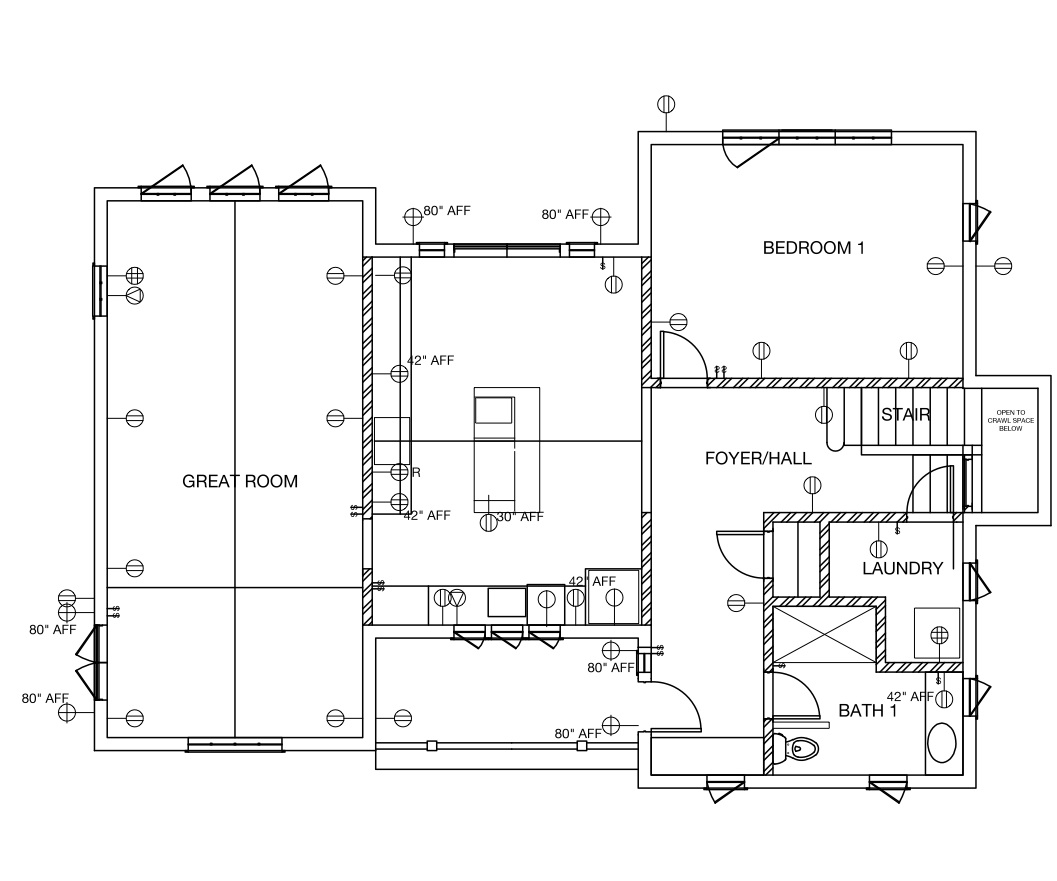 Home Electrical Layout Plan Kitchen