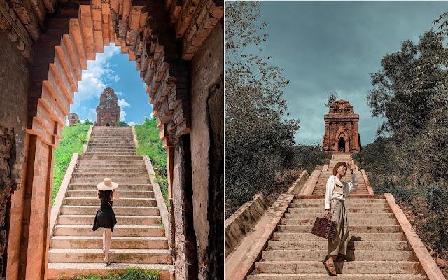 Tháp Bánh Ít - Bình Định thu hút giới trẻ check in