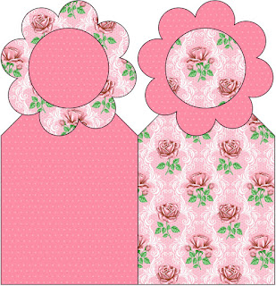 Shabby Chic with Pink Roses First Communion Free Printables.