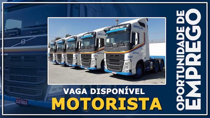 Transportadora Bertolini abre vagas para motorista carreteiro