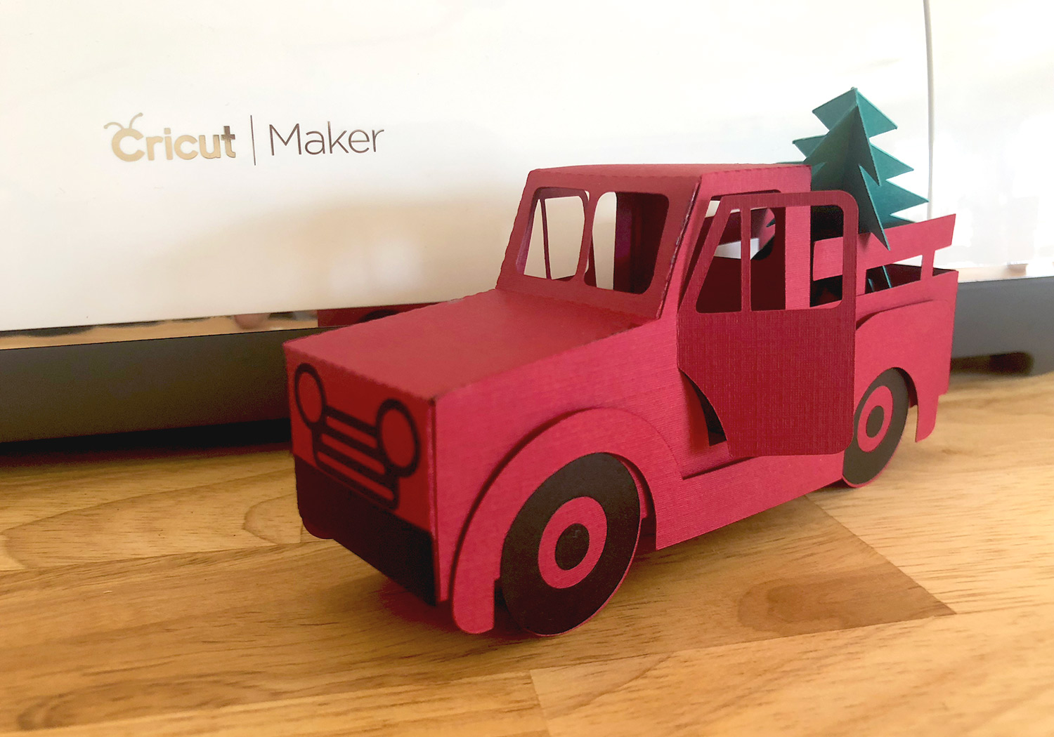 Old Truck With Christmas Tree.Fields Of Heather Vintage Red Truck Free Svgs Project Ideas