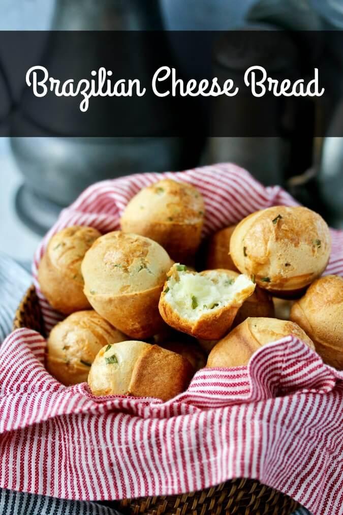 Gruyere and chive Brazilian cheese bread
