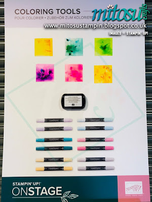 Pigment Sprinkles Colouring Tools NEW Stampin' Up! Products #onstage2019 Display Board from Mitosu Crafts UK