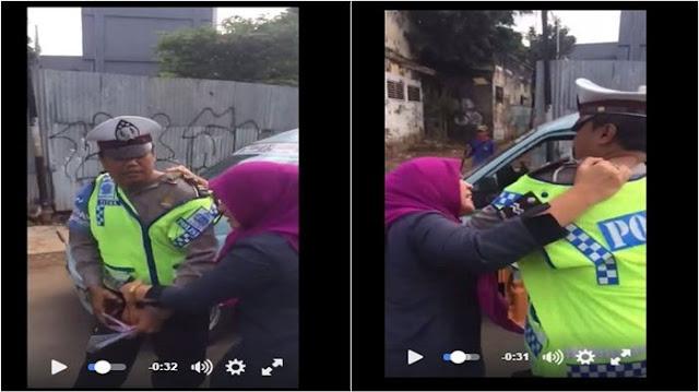 Video Ibu Pegawai Mahkamah Agung Cakar Polantas Viral di Medsos Bikin Heboh