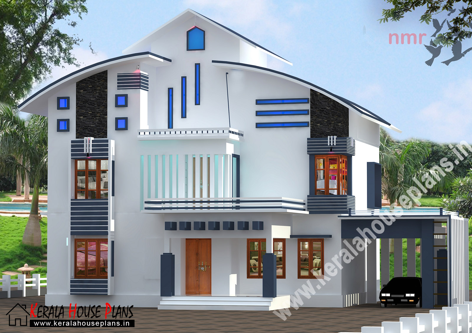 Kerala house plans and designs for Kerala 3d home floor plans