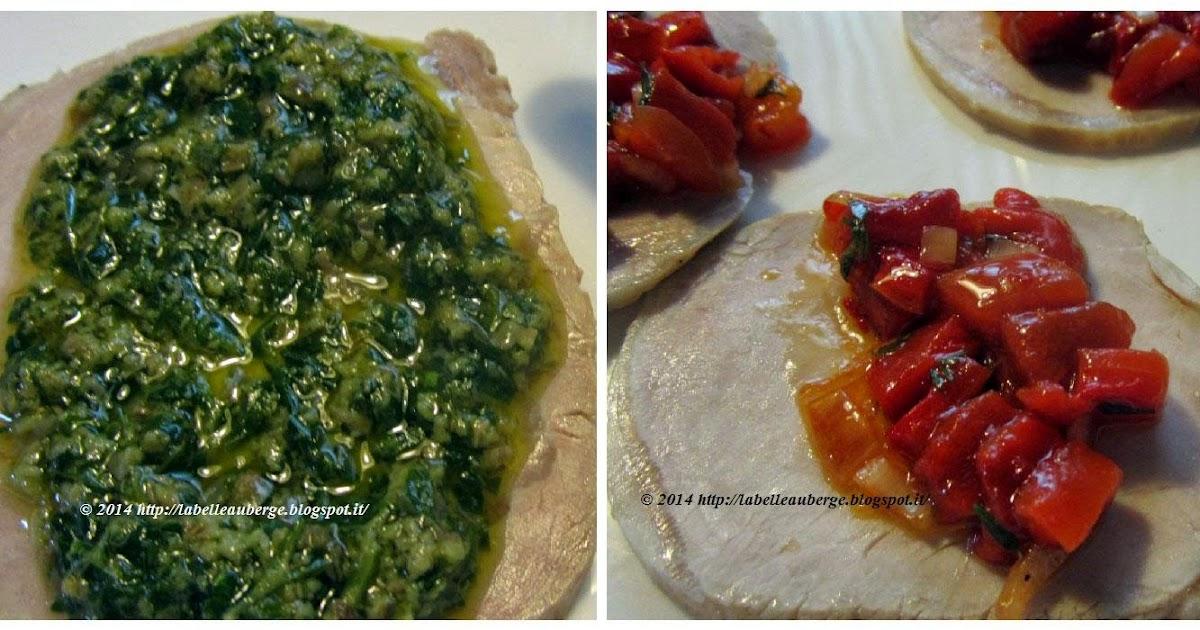 La Belle Auberge Arrosto di maiale con salsa piccante al peperone e salsa verde