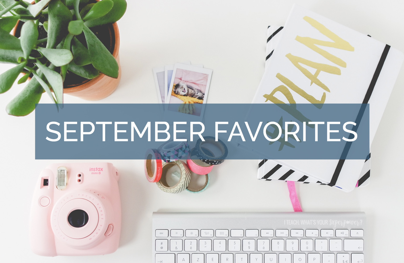 Cork earrings? Yes, please!  Plus a Outlander, new shelves, and more September favorites.