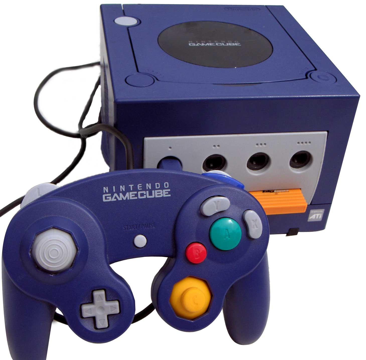 Imagen: Videoconsola Nintendo GameCube de 2002, autor de la imgen: Guillaume Bokiau (cc:by-sa)