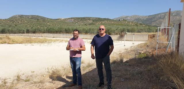 Συνεργασία Χρόνη - Μαντζούνη για τα αναγκαία έργα στο γήπεδο του Αγίου Δημητρίου ώστε να καταστεί λειτουργικό