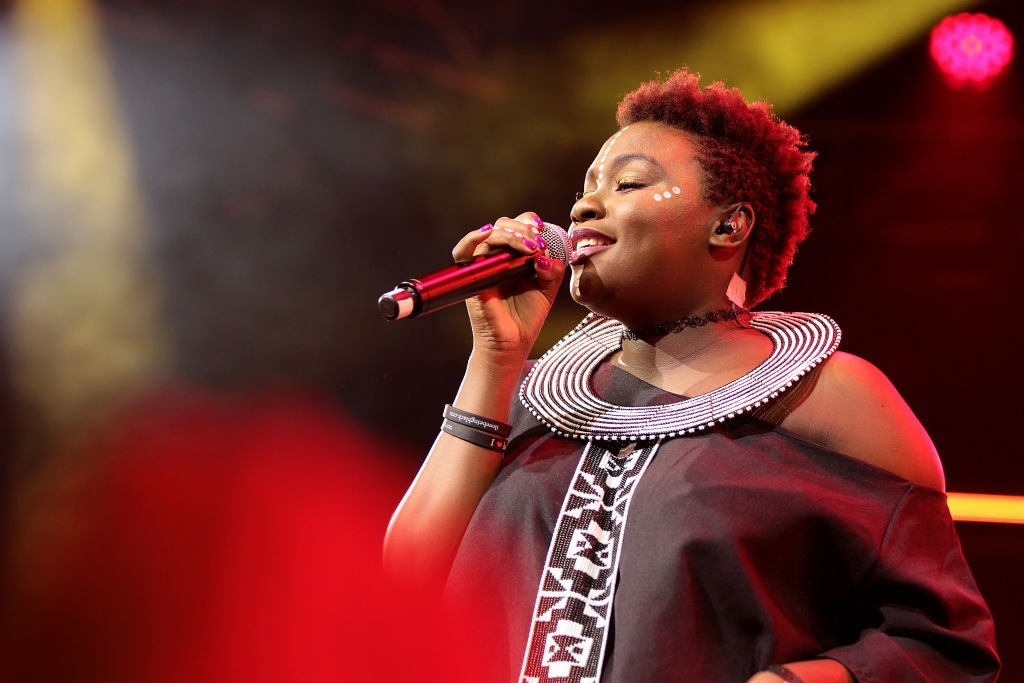 Amanda Black during the 19th annual Cape Town International Jazz Festival on March 23, 2018 in Cape Town, South Africa. The Cape Town International Jazz Festival (CTIJF) referred to as 'Africa's Grandest Gathering' is the largest music festival in sub-Saharan Africa. (Photo by Dereck Green/Gallo Images/Getty Images)