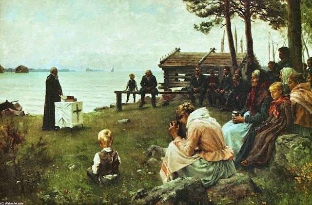 Albert Edelfelt - Divine Service in the Uusimaa Archipelago