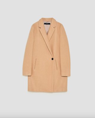 soft feel double-breasted coat
