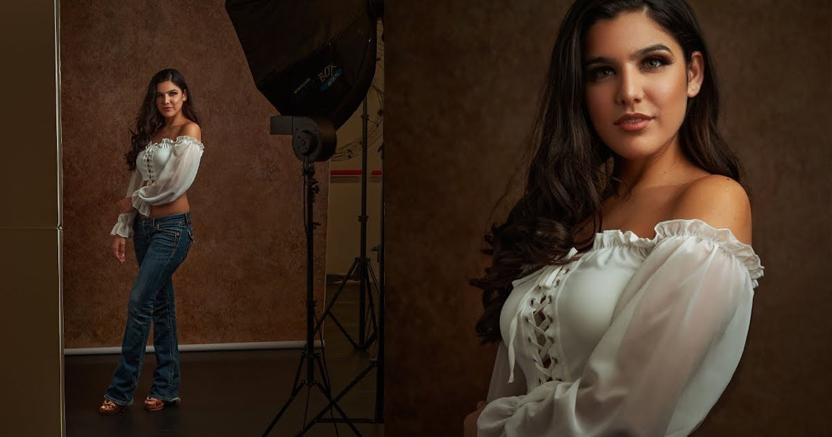 One Light Studio Portrait Techniques and Photoshop Tutorial