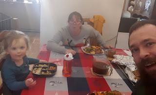 Sat down for our lovely dinner