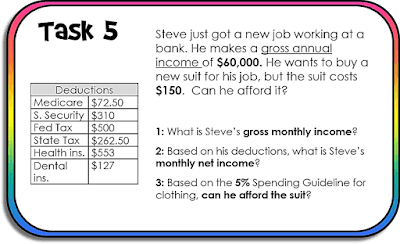 Budget Task Cards Activity w/ GOOGLE Form