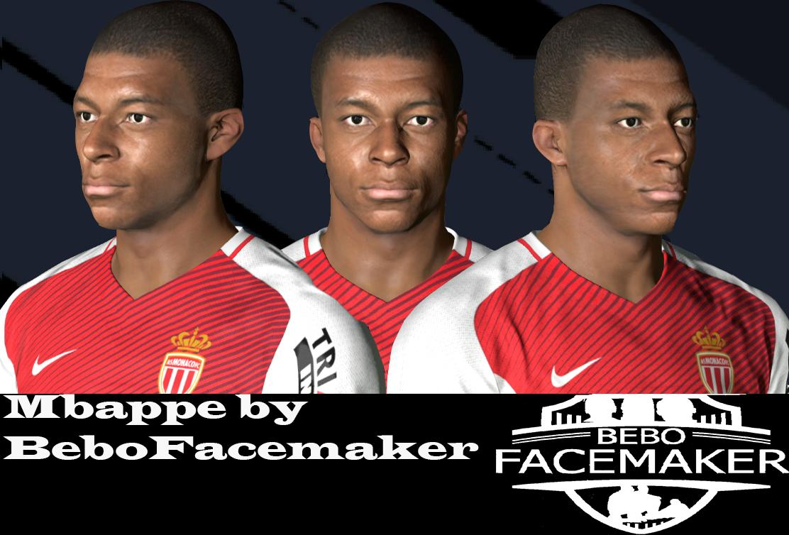 PES 2017 Kylian Mbappé Face by Bebo Facemaker