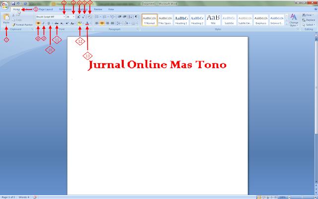Mengenal Fungsi Menu Home di Bar Microsot Word 2007