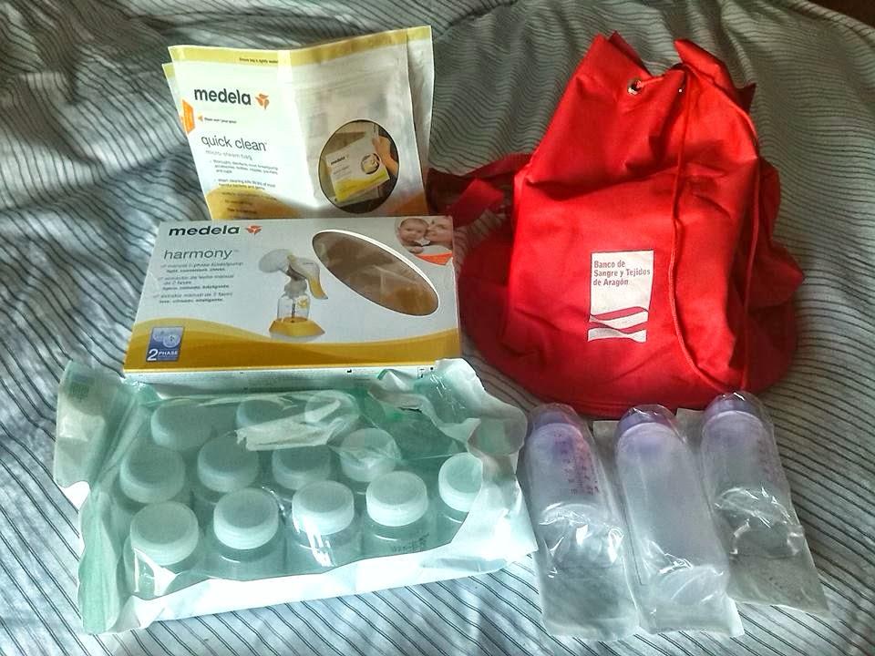 kit de donante de leche materna