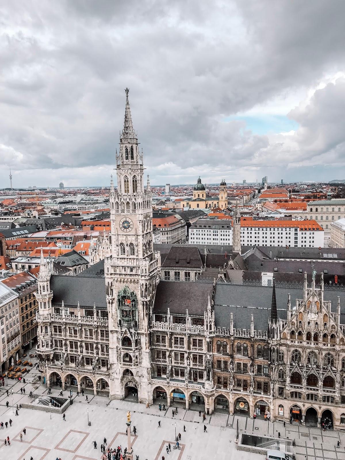 Marienplatz is the city sqaure of Munich, Germany