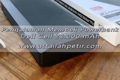 Pengalaman Membeli Powerbank Dell Cell 20.000 mAh