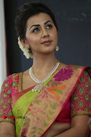Actress Nikki Galrani Latest Pos in Saree Neruppu Da Movie Audio Launch  0003.jpg