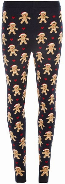 Leggings con estampado de galleta navideña