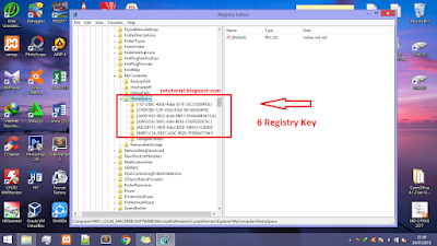 Cara Menghilangkan 6 Folder pada (This PC) Windows 8.1
