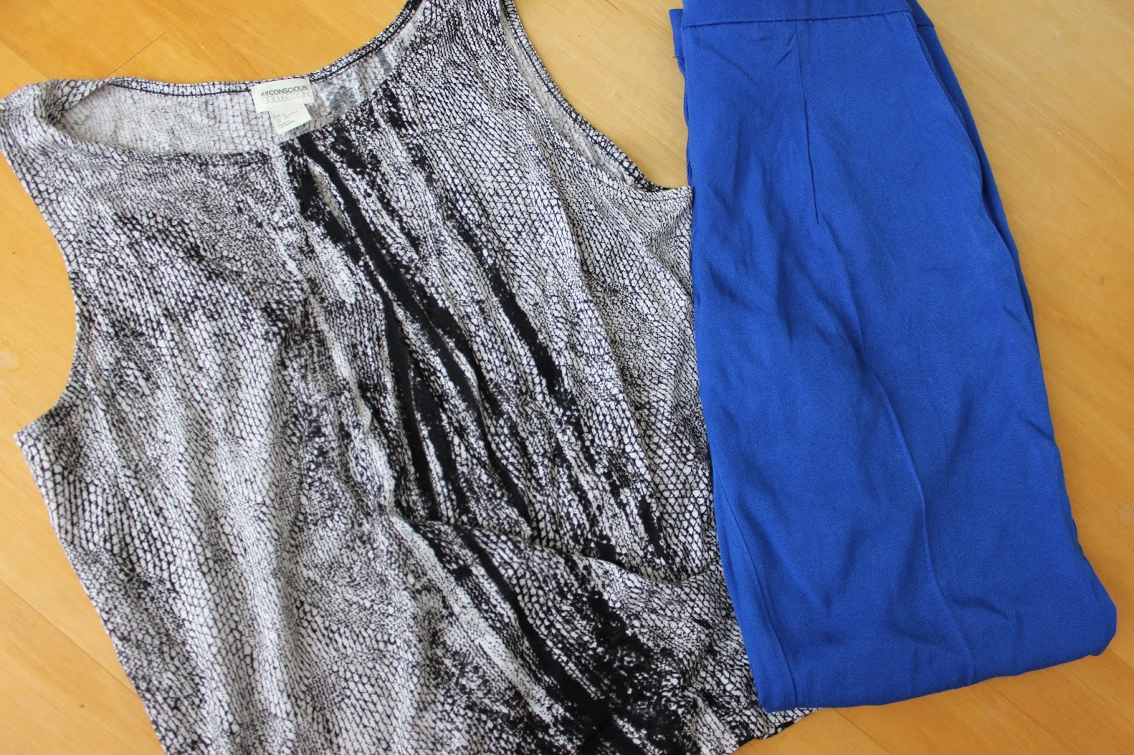 New in Shopping H&M Pants Snakeprint Animalprint Top