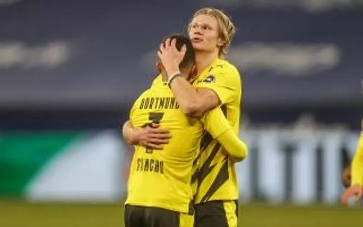 Haaland reacts to Sancho Manchester United transfer being a done deal