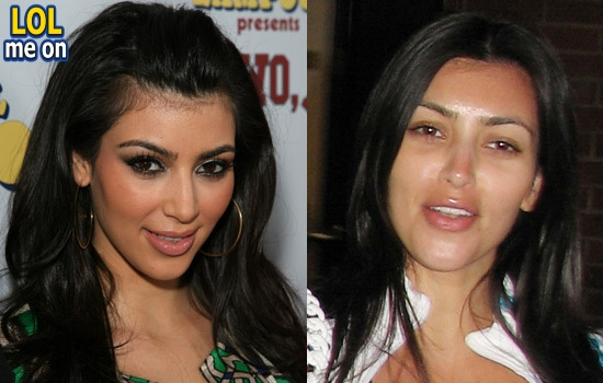 "funny celebrities picture shows Kim Kardashian  from ""LOL me on"""