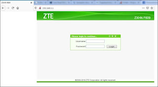 Cara Reset Modem Router WiFi Indihome ZTE F609