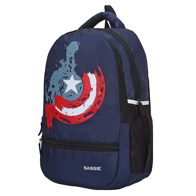 Rs,366/- Sassie Polyester 31 L Navy Blue School Bag with Laptop Compartment